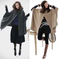 Newest Fashion Women Sweaters Big Size Batwing Sleeve Trench Coats Poncho Free Shipping B6 9398