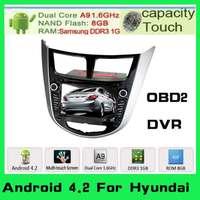 Android 4.2 Car DVD Automotivo GPS For Hyundai Solaris Verna Accent+GPS Navigation+1.6GHz Cpu+8GB menory+audio+pc radio styling