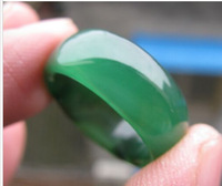WHOLESALE JEWELRY RING NATURAL GREEN JADE RING SIZE8 -12REAL JADE NOT GLASS/