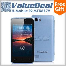 "Original H-mobile F2 MTK6572 Dual Core Mobile Phone Dual Sim Dual Camera Smartphone Android 4.2 4.0"" Scree GSM Better Jiayu F1(China (Mainland))"