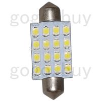 50pcs White 41MM 16 3528 Festoon Dome Map Interior LED Light Lamp Roof Bulb 24V  for hot sale  free shipping
