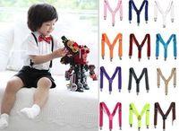 New 2014  Children Kids Boy Girls Clip-on Suspenders Elastic Adjustable Braces