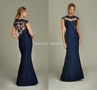 Abendkleider 2014 Best Selling Ready To Ship High A-line Floor Length Appliques Zipper Back Vestido De Festa Prom Dresses 2014_