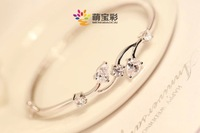 new arrival 2014, free shipping 925 sterling silver bracelet, wholesale fashion jewelry, silver heart charm bracelet