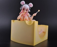 High quality 18cm New Anime Super Sonic Sonico Soup Spoon Pre-Painted Resin Figure new in box Free shipping