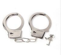 New 2014 Creative Handcuffs Steel Police Duty Double Lock Keys