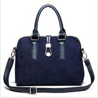 Fashion European American Style Bolsas Femininas Women PU Leather Hangbags Rivet Shoulder Bags Girls Zipper Vintage Female Tote