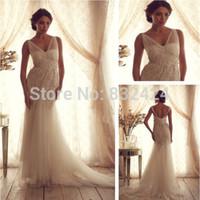 Sexy Sheer Straps Backless See Through Corset Wedding Dresses Court Train Vestidos De Noivas V Neck Bridal Gowns Women_bridalk