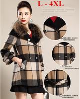 2014 winter coats big brand high quality Authentic fashion loose pure color knit women 's coat lapels overcoat