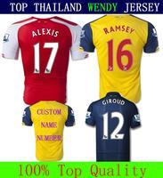 Wendy Jersey Thailand New 14 15 Thai 2015 Soccer Jersey Futbol Kit Ozil Ramsey Giroud Alexis Sanchez Wilshere