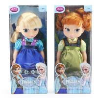 2pcs/Lot Animators Collection Frozen Elsa Anna Princess Plastic Toy Doll PVC Action Figure Dolls Toys Gifts In Box