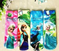 Frozen Girls Socks anna elsa socks for kids spring autumn Baby Cotton Socks Cartoon Children Normal Sneaker Socks 12Pairs/Lot