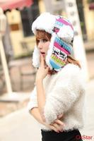 2014 new lady Lei Feng hats fashion knitting plus velvet deer winter warm earmuffs Ski Caps Hats