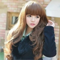 Hot sale Korean version of the big wave long hair fluffy wig repair face long hair girl with curly hair Freeshipping