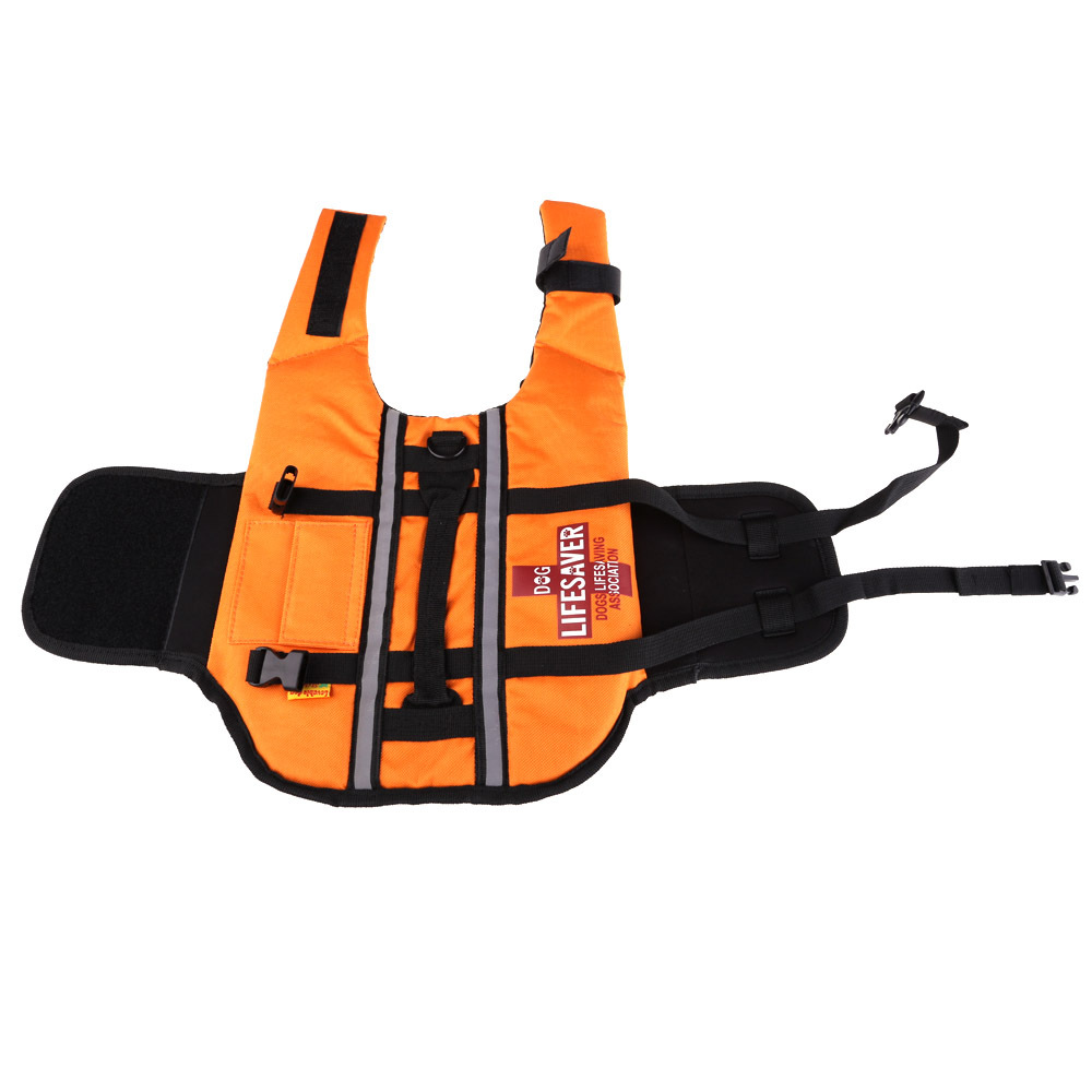 Orange Dog Pet Float Life Jacket Life Vest Aquatic Safety Swimming Suit Boating Life Jacket FE#8(China (Mainland))