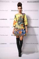 New 2014 women ladies autumn winter fashion trench coat vintage print Windbreaker high street overcoat outwear 4XL D1690