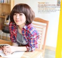 2014 Hot sale Short Brown Wavy Lovely  Girl Bob Hair Wigs Free Shipping