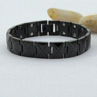 European Mens Brand Magnetic Cross Double Line Bracelet