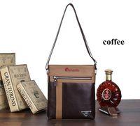 Bags Men Shoulder Bag Coffee Black Real Leather Handbags Fashion Cross body Purses Panelled Purses BH1720