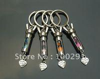 Lovely gary AS26 mini hourglass key chain gift to friend, free ship!!!!!!!!