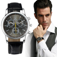 Fantastic ! New Men's Luxury Fashion Faux Leather Waist Watch Analog Watches Free Shipping & Wholesales Feida