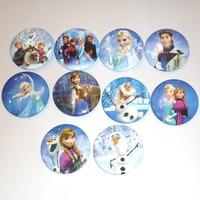 50designs Frozen Badge Button Pin 4.5cm Party Favor Gift Frozen Buttons Pins BadgesBadges Party Favor Kid's Gift
