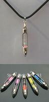 Bulk  ## necklace charming pendant NS09 transparent  mix-color mini hourglass  vial tube, FREE SHIP!!!!!!!!