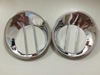 ABS Chrome Plated Car Rear Fog Lamps Light Trim Bezel Lamp Cover 2Pcs For Nissan Dualis & Qashqai 2008 2009 2010 2011 2012 2013
