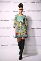 New 2014 women ladies autumn winter fashion trench coat vintage print Windbreaker high street overcoat outwear 4XL D1695