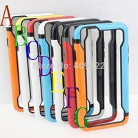 Fedex 100pcs multi-color PC TPU Border Bumper frame Case For Apple iPhone 6 4.7'' Rubber Phone Case Skin Fashion Cool  pt03i612