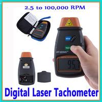 LCD Digital Laser Speed Measuring Instruments Tachometer  2.5-99999 RPM Optical photo Tachometer DT-2234C+  Tach Meter RPM