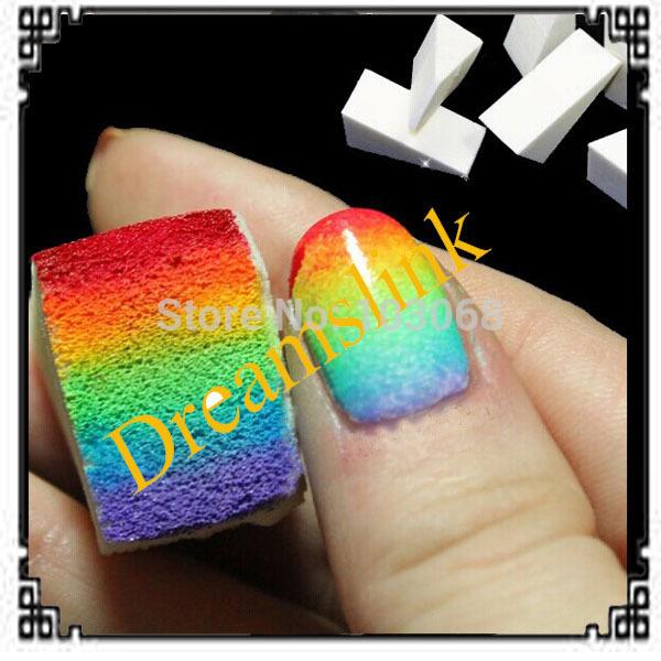 5 sets (40 pcs)Hot Season Hot Sale nail tools nail polish Simple DIY Change color Sponge Creative Nail Tools free shipping(China (Mainland))