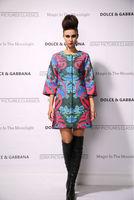 New 2014 women ladies autumn winter fashion trench coat vintage print Windbreaker high street overcoat outwear 4XL D1693
