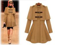 Plus Size S-XL 2014 new winter coat Korean Women Slim woolen cashmere wool winter coat casacos femininos Outdoors coats S45-8068