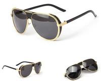2014 Fashion vintage sunglasses gafas men brand coating sunglass Steampunk metal sun glasses for men oculos de sol Free shipping
