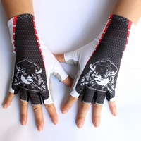 2014 New High Quality CASTELLI Breathable Cycling Bike Bicycle Sports Half Finger Glove Size M-XL AG6005