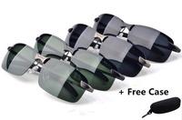 2014 Alloy Brand polarized sunglasses for men driver mirror sunglass Sport Mens Cool driving Glasses 3043 Free Case Oculo De Sol