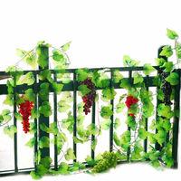 Artificial Wall Floral Vine Ivy Silk Fake Grape Plastic Green Leave Rattan