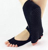 Hot!Yoga Cotton Socks, Five Fingers Round Head Peep-Toe Antiskid Women Yoga Socks Free Shipping