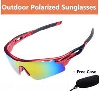 2014 Fashion cycling eyewear mens brand polarized coating sunglasses men outdoor sports polaroid sun glasses Oculos de sol G295