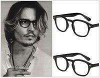 2014 New fashion eyeglasses men vintage Rivets glasses frame plain mirror Super Star Johnny Depp women brand myopia glasses G107