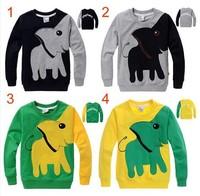 Free shipping,New Elephant, children Hoodies, Sweatshirts,boy girl Pullover top shirts Hooded Sweater hoodie,5pcs/lot