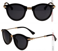 New 2014 Women fashion vintage sunglasses Heart logo Gold Metal Legs Brand Designer women retro sun glasses oculos de sol G174