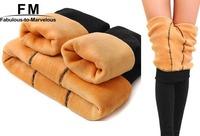 Thickening Warm Leggings Velvet Fitness Casual Warm Winter Faux Velvet Knitted Thick Slim Leggings Super Elastic AW14P026