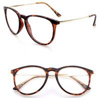 New Fashion vintage eyeglasses UV Protection Metal leg College Style women brand myopia glasses round glasses men oculos gafas