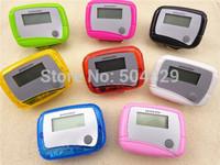 wholesale 200pcs Pocket LCD Pedometer Mini Single Function Pedometer Step Counter LCD Run Step Pedometer Digital Walking Counter