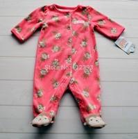 Carters baby girl snowsuit fleece newborn winter baby coats baby girls rompers infant bodysuit girls clothing Free shipping