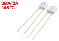 20pcs 8 x 6 x 2.5mm Square Micro Fan Fuse 250V 2A 145 Degree Celsius