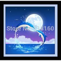 DIY 5D diamond Painting dolphin gulf lovers crystal Animal Cross Stitch Decorative diamond Picture  68 * 68CM