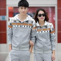 Fashion Lovers suit  Hooded men sports suit lovers sweater men and women sportswear leisure suit female